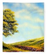 Flowered Fields Fleece Blanket