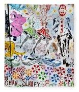 Flowered Mural Fleece Blanket