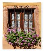 Flowered Window # II Fleece Blanket