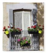 Flowered Window Fleece Blanket
