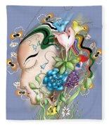 Flowerhead Fleece Blanket