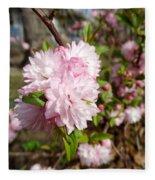 Flowering Almond Fleece Blanket