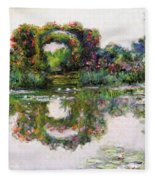 Flowering Arches, Giverny Fleece Blanket