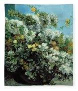 Flowering Branches And Flowers Fleece Blanket