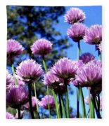 Flowering Chives Fleece Blanket