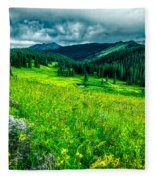 Flowering Colorado Mountain Meadow Fleece Blanket