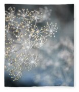 Flowering Dill Macro Fleece Blanket