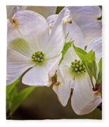 Flowering Dogwood Fleece Blanket