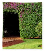 Flowering Garden Fleece Blanket