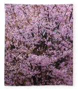 Flowering Pink In Spring Fleece Blanket
