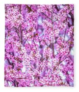 Flowering Plum Blossoms. Fleece Blanket