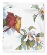 Flowering Season II Fleece Blanket