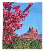 Flowering Tree - Sedona Red Rock Fleece Blanket