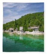 Flowerpot Island - Georgian Bay, Ontario Fleece Blanket