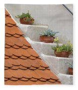 Flowerpots Ascending Fleece Blanket