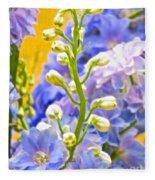 Flowers 39 Fleece Blanket