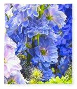 Flowers 41 Fleece Blanket
