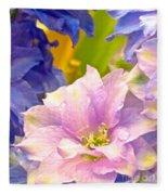 Flowers 42 Fleece Blanket