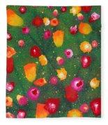 Flowers Afloat Fleece Blanket