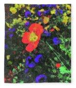 Flowers After Mass Fleece Blanket