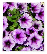 Flowers Alaska July  Fleece Blanket