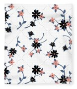 Flowers All Around Fleece Blanket