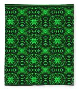 Flowers And Bees Abstract Fleece Blanket