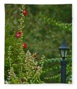 Flowers And Lanterns Fleece Blanket