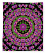 Flowers And More Floral Dancing A Power Peace Dance Fleece Blanket