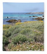 Flowers And Surf Fleece Blanket