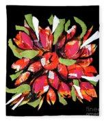 Flowers, Art Collage Fleece Blanket