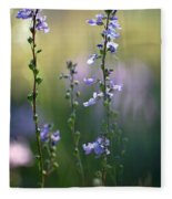 Flowers By The Pond Fleece Blanket