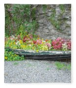 Flowers Floating Fleece Blanket