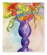 Flowers For Bobbie Fleece Blanket