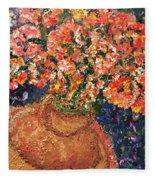Flowers For Mary Fleece Blanket