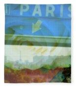 Flowers For Paris Fleece Blanket