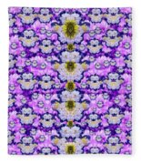 Flowers From Sky Bringing Love And Life Fleece Blanket
