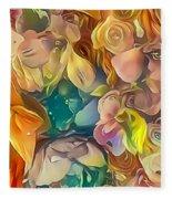 Flowers I Fleece Blanket