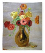 Flowers In A Pitcher -11 Yrs Old Fleece Blanket