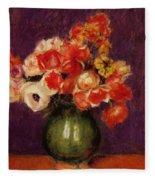 Flowers In A Vase 1901 Fleece Blanket