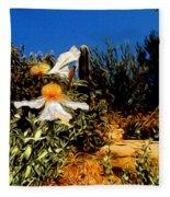 Flowers In Abstract 15 Fleece Blanket