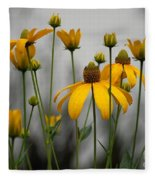 Flowers In The Rain Fleece Blanket