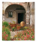 Flowers In The South Wing, Mission San Juan Capistrano, California Fleece Blanket