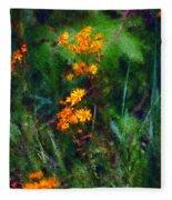 Flowers In The Woods At The Haciendia Fleece Blanket