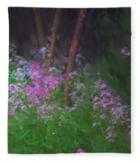 Flowers In The Woods Fleece Blanket