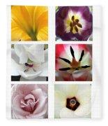 Flowers In The Yard Fleece Blanket
