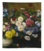 Flowers In Three Vases 1879 Fleece Blanket