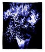 Flowers In Velvety Tones Fleece Blanket