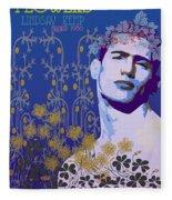 Flowers Of Lindsay Kemp Fleece Blanket