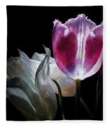 Flowers Lit Fleece Blanket